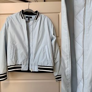 New Baby Blue Bomber Jacket from Forever 21
